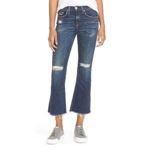 "Rag & Bone | 10"" Crop Flare Raw Hem Jeans"